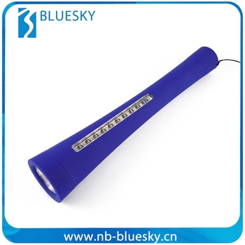 Rubberized 11LED Plastic Flashlight sTorch with magnet