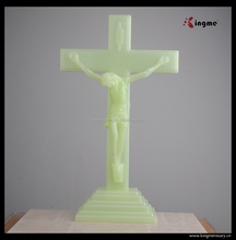 Large plastic luminous Jesus Crucifix cross with Stand