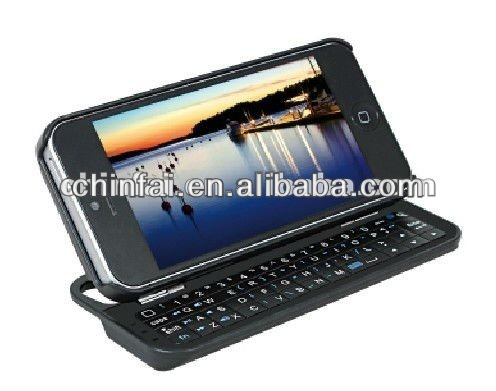*Top Rated* Ultra-Thin Sliding Bluetooth Keyboard Hard Case for iPhone 5 / 5S