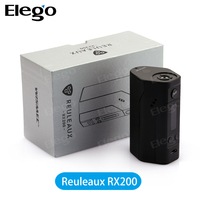 Elego New Hot Temp Control Box Mod Electronic Cigarette Wismec Reuleaux RX200 With China Chip