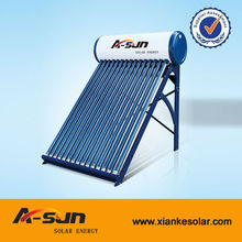 2013 china non pressurized vacuum tube solar water heater galvanized steel outer tank