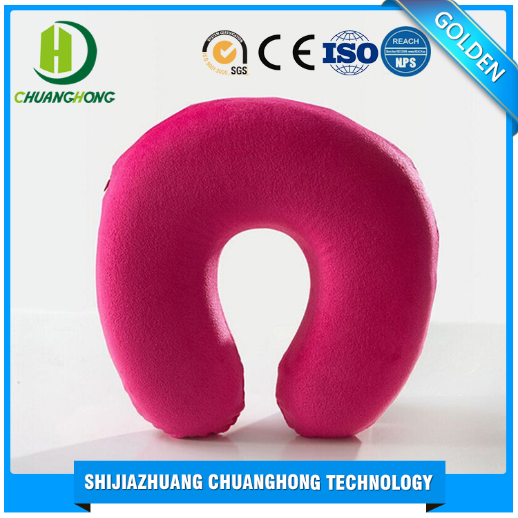 Wholesale custom printed decorative non-toxic shredded U type memory foam pillow