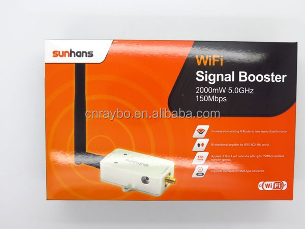 5.8G 2000mW wifi signal booster with RG316 cable SMA connectors