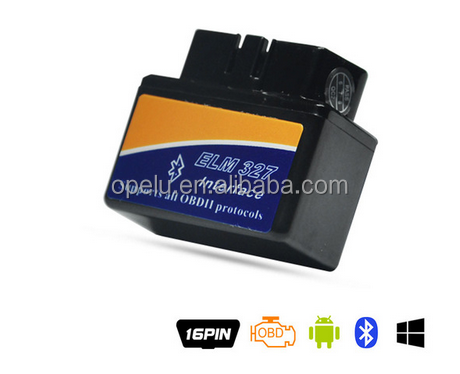 Factory Super Mini ELM327 OBDII OBD2 V2.1Bluetooth ELM327 with OBD2 Adapter