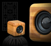 Hairong professional bamboo Mini beats audio bluetooth speaker, wooden Mini beats audio bluetooth speaker