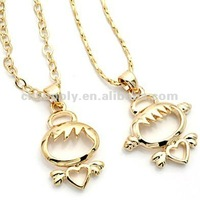 fashion love couple jewelry cute boy and girl pendant necklaces