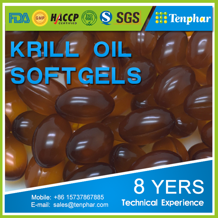 1000mg Big Manufacturer Many Years Experience Krill Oil Pills