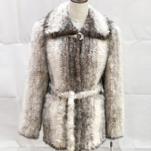 custom made italian design lady cheap winter sex modern natural women long knitted 100% real mink fur parka trim coats