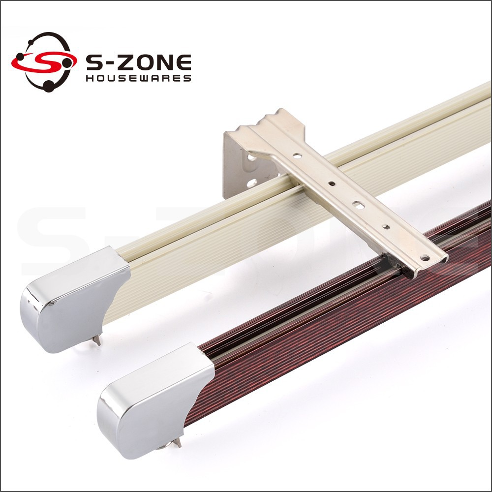 China factory bendable aluminium curtain track with curtain rail cover
