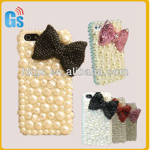 Bling Jewelry Pearl Diamond Handmade Cover For Iphone 5 Case