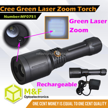High Beam Ultra Long Distance Rechargeable LED Green Point Laser Flashlight