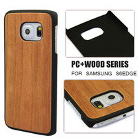 Eco friendly bamboo wooden case for Galaxy S6,wooden phone case for Samsung S6 Edge