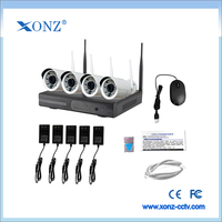 Manufacturer china 4ch dvr wifi nvr kit p2p outdoor waterproof 720p network ip camera home security wireless cctv system
