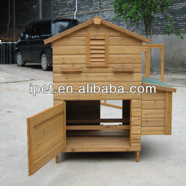 Cute raised wooden poultry house with nest boxes CC014