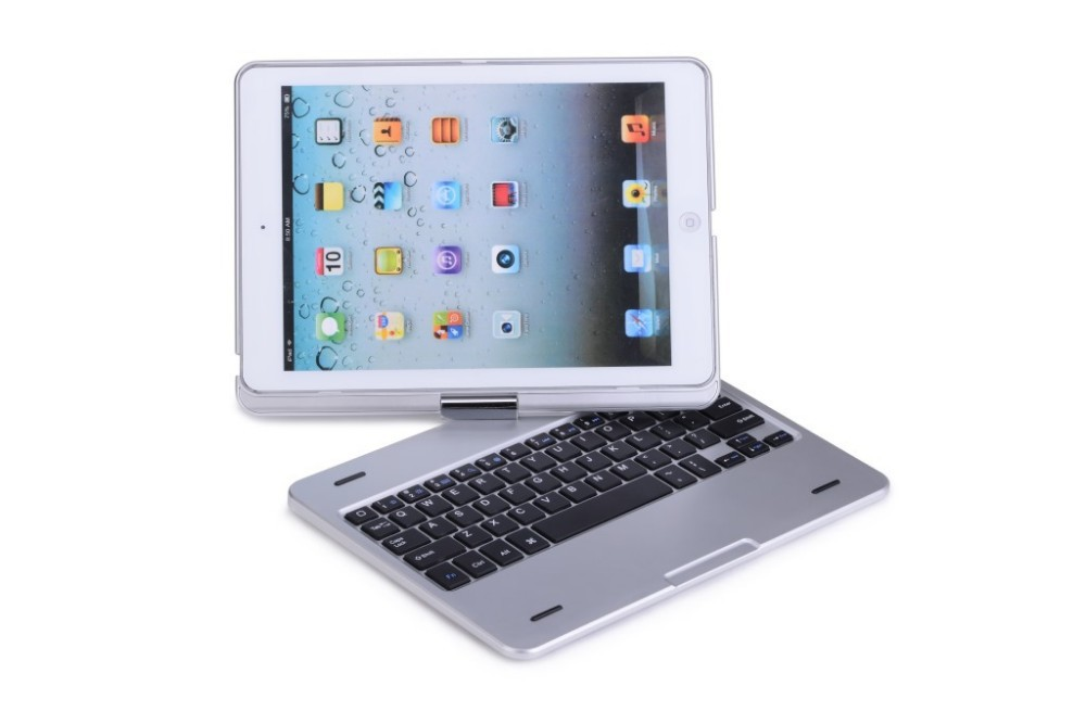 360 Degree Rotation Ultra Slim Bluetooth Keyboard Case for Apple iPad Air 2