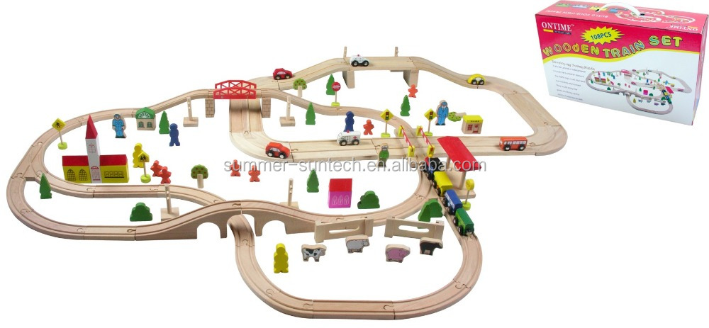 High End Nontoxic Eco-friendly Wooden Train Track