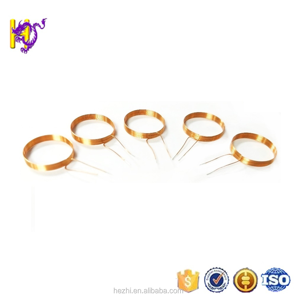 Custom service self- adhesive enameled wire toy induction air coils