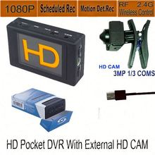 sd card portable dvr digital video recorder with 1100mAh built-in battery