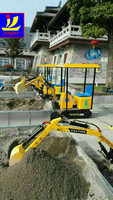 China manufacturer children's toy excavator, interesting mini child digger for amusement, indoor amusement mahcine for kiddies