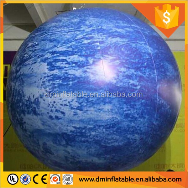 Top sale animal toys Full Printing Giant inflatable earth moon Mercury Mars balloon ball
