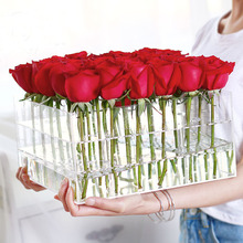 36pcs rose display flower box square acrylic transparent flower box