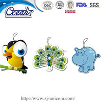 lovely animal paper car air fresheners, merry chrismas paper air freshener, the promotion air freshener