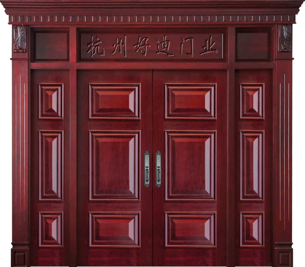 Haodi Main Entrance Solid Wooden <strong>Door</strong> Design