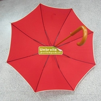 Promotion Automatic Wooden Stick Umbrella with Wooden Handle