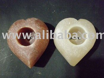 SALT CANDLEHOLDERS HEART SHAPES