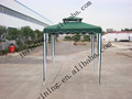 double roof garden gazebo outdoor BBQ gazebo fire retardant