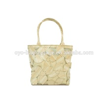 2016 New style Europe Cutout carved PU+Gauze leather women's bag