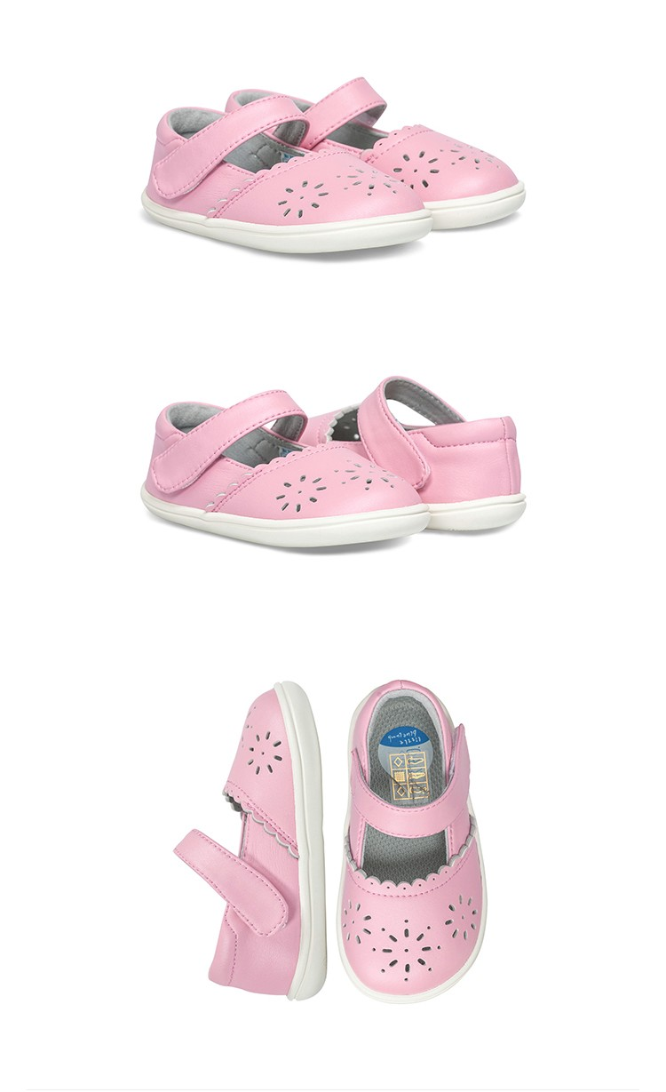 littlebluelamb new style wholesale toddler leather shoes for girls