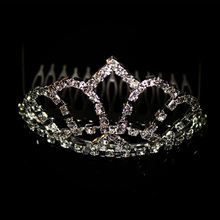 1.8 inch kids rhinestone tiara with comb