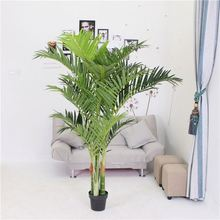 Factory direct sale indoor decoration lifelike artificial palm tree leaves fake plant bonsai