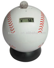 Baseball Coin Bank with LCD Counter and Sounds