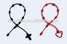 2012 latest design silicone cross bracelets