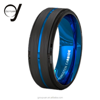 Guangzhou Jewelry Blue Tungsten Carbide Ring 8MM Tungsten Rings Celtic Blue Mens Wedding Bands