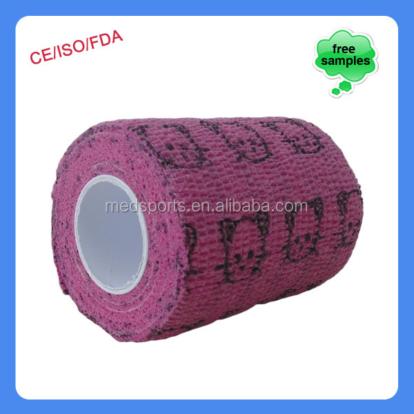 best selling products medical disposable hand wraps hand tear printed self adhesive bandage