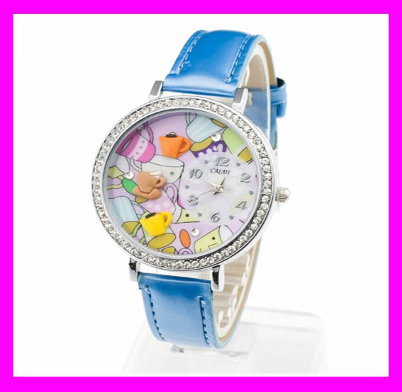 Hot sales fashion leather cute girls korea mini miniature watch HD2182
