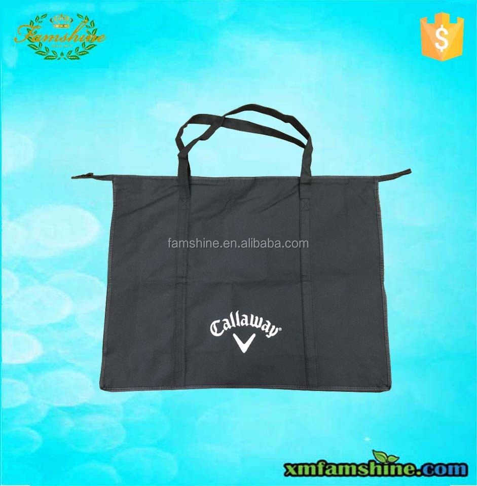 wholesale recycle non woven bag with zipper