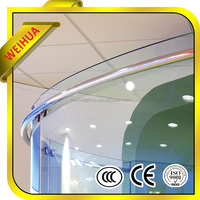 Shandong Weihua manufacturer curved laminated glass low iron ce