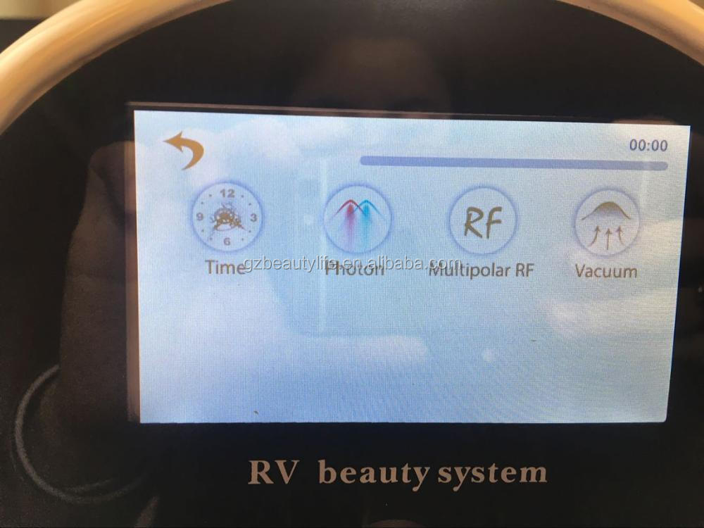 Touch screen Multi-RF photon vacuum Machine for Home Use skin care body slimming
