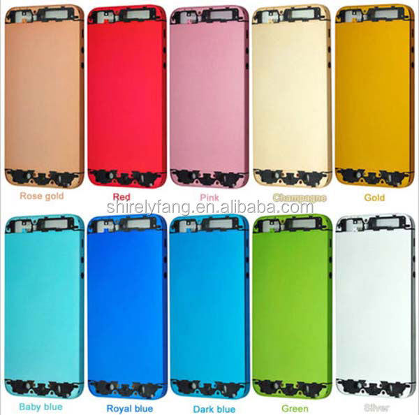 For iphone5 Colorful Replacement No Any Scrach A+++ Metal Back Battery Housing Cover Hard Case for iphone 5 5g