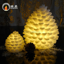 Latest New pinecone shaped Christmas electronic candle LED