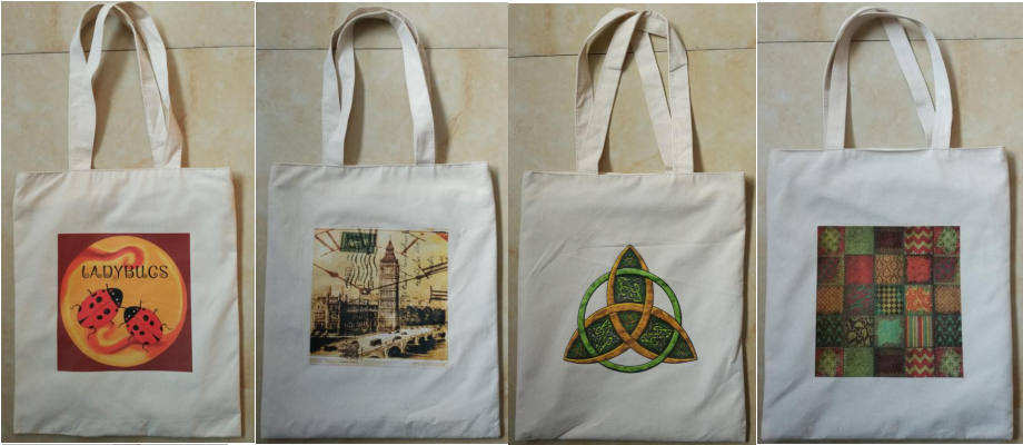 ECO printed bag cotton