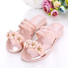 2017 Newest Summer Girls Plastic Flower Jelly Sandals Women