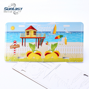 New design embossing aluminum colorful printing postcard for gift