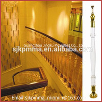 decorative pillars for homes/handrails for indoor steps/acrylic stair railing