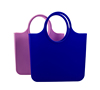 Hot Sell Women Waterproof colorful jelly candy Silicone Shoulder Shopping hand Bags for Lady