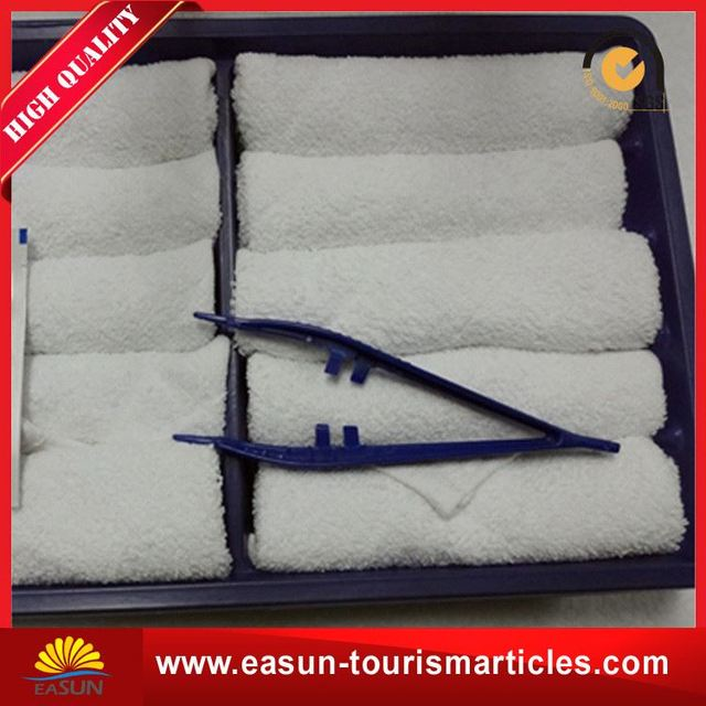 Disposable custom made airline hot face towel